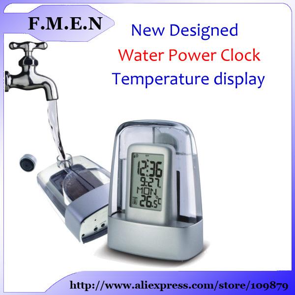 Бесплатная доставка jaskey прозрачный часы экологичный часы работающие на воде
