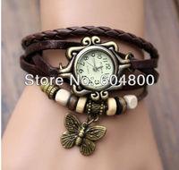 Vintage ladies watch  Owl Pendant item hours Bead Bracelet Watch