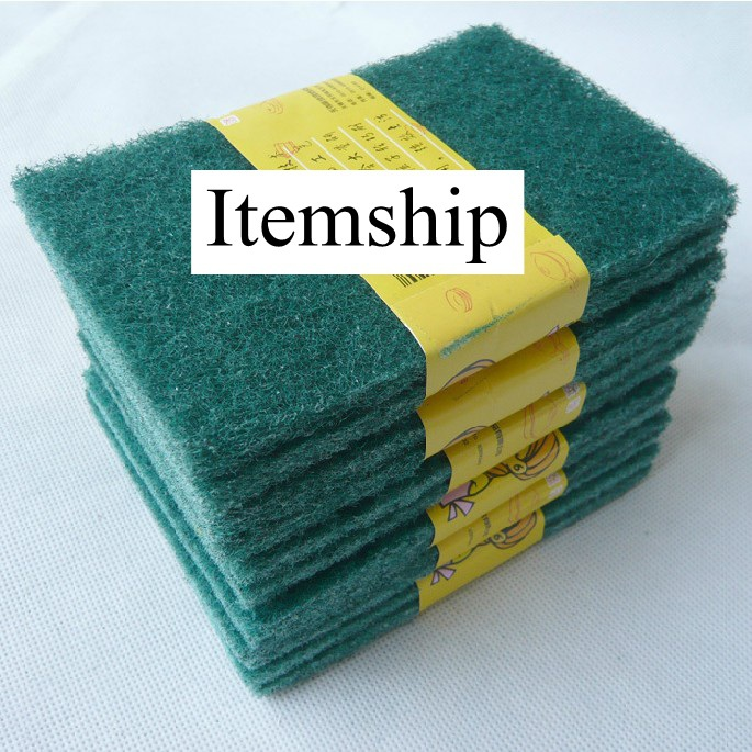 Itemship 12 pieces of stainless steel metal cleaning of hard sand melon wear-resisting microfiber cloth towel cloth wash bowl(China (Mainland))