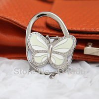 Free Shipping 1 PC New Arrived Originality Mini Butterfly Design Handbag Folding Bag Purse Hook Hanger For Friend Gift