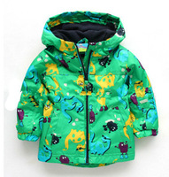 free shipping Topolino mouse child windproof outerwear male child plus velvet trench baby outdoor jacket