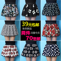 2013 vintage thick linen broken involucres high waist puff skirt bust skirt short skirt female