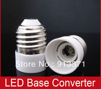 Free shipping 5pcs E27 To E14 Light Bulb Lamp Holder Socket Adapter Converter fire resistance White shell wholesale