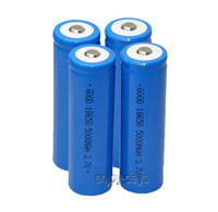 New 4 piece LED Flashlight Rechargeable 18650 Battery 5000Mah 3.7V high quality Free Shipping