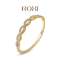 fashion yellow / rose gold plated bangles for women,set with Zircon Crystal,christmas gift,new arrival,ROXI 2050008750