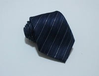 2014 New Stylish Gentlemen's Color Block Stripe Tie Blue