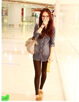 The new spring and summer 2013 women's denim shirt Ladies long-sleeved shirt Slim-YG112