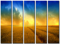 Huge Canvas Prints Realist Modern Wheat Landscape Oil Painting Picture Printed On Canvas Home Decor Wall Art SJ(984)
