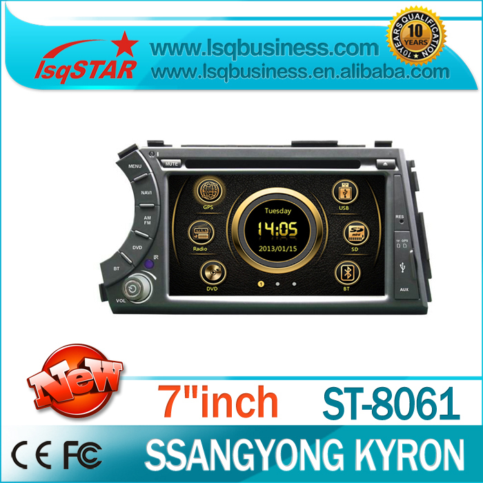 Central Multimedia DVD For Ssangyong Kyron with GPS Navi bluetooth 3G/ 6CD/ FM/ Dual Zone/ SWC/ bluetooth full function on-sale(China (Mainland))
