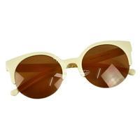 Free Shipping New Unisex Designer Semi-Rimless Super Round Circle Cat Eye Retro Sunglasses5635