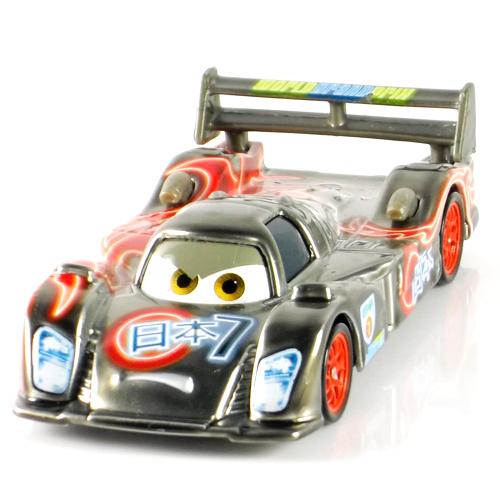 Pixar cars 2- 100% originale Mattel neon finitura metallica shu todoroki giappone racer sciolto molto raro giocattoli in metallo pressofuso