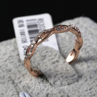 MZY Elegant Romantic Crystal Ring 18K Gold Plated Made with Genuine Austrian Crystals Full Sizes Wholesale R083