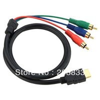 5 Feet 1.5m 1080P HDMI-Male to 3 RCA Video Audio AV Cable Adapter