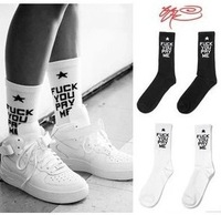 Free shipping Don`t Miss!!! Ssur fuck you pay me socks skateboard socks men and women socks knee-high thick thread