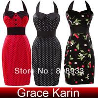 Fast Delivery Grace Karin Bandage halter designer Short Vintage Evening Dress CL4590