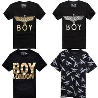 2014 Boy girl Tee shorts, Fashion eagle boy london short-sleeve basic t-shirt lovers t shirt plus size classes
