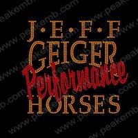 Hot Selling 30Pcs/Lot  G.E.F.F Horses Wholesale Hot Fix Rhinestones Flat Back Crystal Transfer Iron On Designs