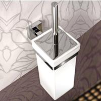 Free shipping Copper toilet brush rack set square bathroom toilet brush holder bathroom ceramic toilet lid cup wholesale