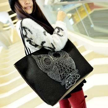 2014 Новая мода OWL мешок женщина сумки посыльного большой сумки емкость женщин сумки LL066