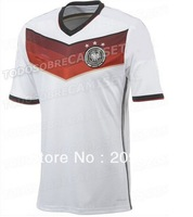 Free shipping germany 2014 world cup home white soccer jerseys football jerseys top thailand 3A+++ quality soccer uniform
