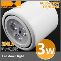 New arrived downlight housing AC86~240V downlight led Cool/Warm white 3w led light lamps 4pcs/lot Free shipping