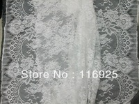 Wedding dress lace fabric french lace fabric with both side scallop ,3 meters/pc