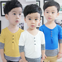 Clothing small male child long-sleeve T-shirt 2013 autumn boys baby top 2 - 7