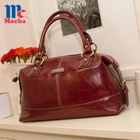 2014 spring  new design!!! Fashion  casual oil wax   women handbag bag  Vintage   pu leather women shoulder  bags  FQ3004