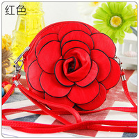Korean Stylish  with Flower Purse /  lovely ladies Handbag / Mobile Wallets / 1214 + Free Shipping.
