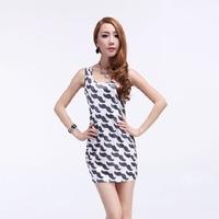 2012 summer HARAJUKU basic skirt sleeveless elegant one-piece dress 5470