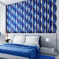 [Mius Art Mosaic] Strip Glossy blue & white wave crystal Glass Mosaic Tiles kitchen tile D9ML84804