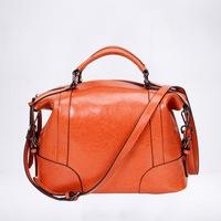 Wholesale fashion cowhide women's handbag ,genuine leather elegant ladies shoulder bags 6 colors  1114