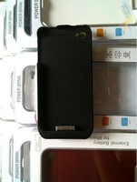 3000 mAh Dual Output External Power Backup Charger Portable Battery Case for iPhone4 4G 4S -Black