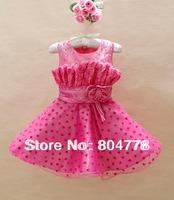 Retail ! Party Dresses for Girls Rose Flower LoveHeart Flower Child Wedding Dress Kids Evening Dress  3-8y