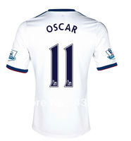 A+++ Top Thailand Quality New Arrival England Chelsea Oscar 11# New 2013 2014 Oscar Soccer jersey Chelsea Cheap Football Shirt