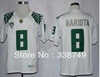 Hot Sale Wholesale Cheap Men's NCAA College Football Jersey Oregon Ducks #8 Marcus Mariota Jersey,Embroidery Logos
