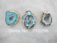 Miraculous Natural Geode Agate Druzy Pendant 5pcs/lot Gem stone Jewelry Necklace Pendant 2loops