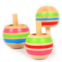 selljimshop 2014 Magical Flip Upside Down Gyro Colorful Wooden Peg-Top Classic Educational Toy jimshopping