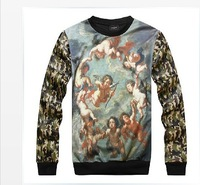 2013 hip-hop  influx of infants religious Lady of the Angels fight skin camouflage mens sweatshirt