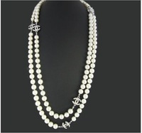 Pearl sweater chain long-chain Korean female models female special luxury pearl necklace