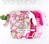 2014 new   Autumn Summer 5pcs carters Baby bodysuits girl Long Sleeve Bodysuits  free shipping