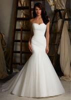 New White/Ivory Mermaid Wedding Dress Custom Size 2-4-6-8-10-12-14-16-18-20-22++