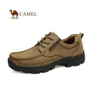 The new men's genuine leather men's everyday casual outdoor shoes hiking shoes slip heavy-bottomed tour