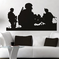 Free Shipping  High quality Carved(not print) wall decor decals home stickers art PVC vinyl War F-100