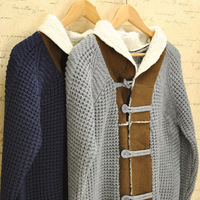 Exquisite vintage male shawl collar cardigan sweater outerwear male qx77