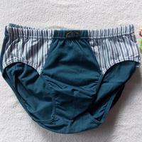 Male panties full cotton 100% mid waist men's trigonometric shorts comfortable stripe patchwork antibiotic physiological pants