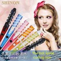 Flashlight hair sticks automatic spiral hair bangs short hair curling roller thermostated volume header