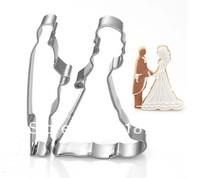 Prince and princess 2 sets Cookie cutter Fruit cutter Bride and Bridegroom stainless steel cutter  DIY Kitchen  Free shipping