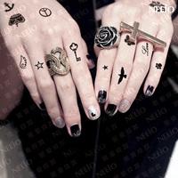 LOL-MALL.COM 2014 Temporary tattoo stickers  crown skull hand  waterproof