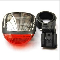 Free Shipping, 2pcs/lot Solar Power Bike Bicycle Rear Tail 2 LED Laser Light Lamp bicycle tail light Accessories